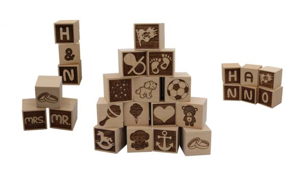 Holzwürfel , Symbole