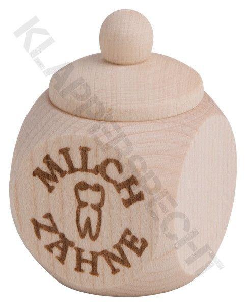 """Holzdose, mit Schraubverschluss, """"Milchzähne"""""""