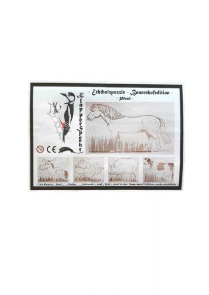 Echtholzpuzzle Bauernhofedition Pferd