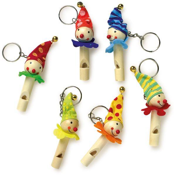 Schlüsselanhänger Flöten-Clowns