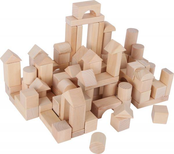 Holzbausteine im Beutel 100 teilig