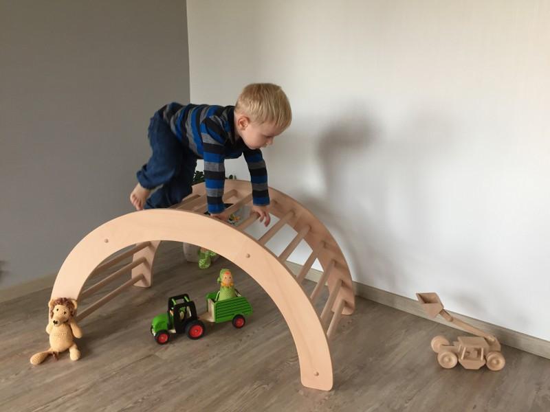 Kletterbogen Aus Holz : Kletterbogen art pikler klapperspecht